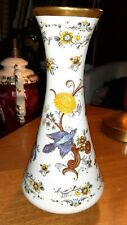 KPM ROYAL PORZELLAN BAVARIA HANDARBEIT BLUEBIRD VASE WITH GOLD TRIM 529/2