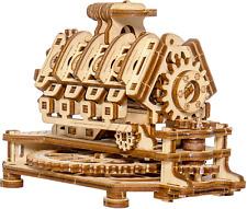 WOODEN CITY® V8 Motor, V8 Engine, Holzmodellbausatz, 3D Holzpuzzle, Modell Hobby