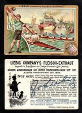 Rowing - Rare Single Liebig Sports Card From 1896 Vintage & Original Boat Race