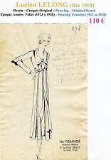 Lucien LELONG Très Rare Croquis Original Encre de Chine Années Folles n°572