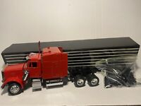 Rare Vintage Enzaka Peterbilt Red Semi Truck W/ Trailer INCOMPLETE Piece