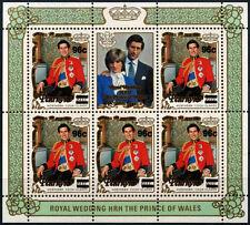 Penrhyn Islands 1983, 96c On 80c Royal Wedding Surch Sheetlet MNH #D34132