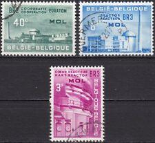 Belgien Mi.-Nr. 1255-1257 gestempelt Euratom Atom-Reaktoren BR 2 u. BR 3