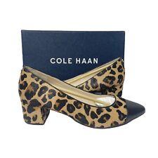COLE HAAN Women's The Go-To Block Heel Pump Leopard Print Size 8 B
