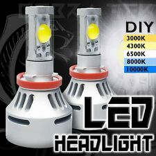 2x Cobra Tek H11 White LED 12v Low Beam Replacement Headlights Fog Lamps Bulbs