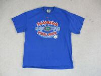 VINTAGE Nike Florida Gators Shirt Adult Large Blue Orange UF Football Men 90s B1