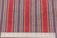 "Rare Cotton Antique 19thC Red & Indigo~""Denim Friendly"" Mattress Ticking Fabric"
