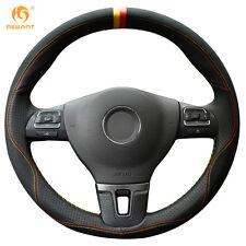3D Soft Black Leather Suede Wheel Cover for VW Gol Tiguan Passat B7 CC Jetta Mk6