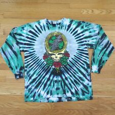 VINTAGE ORIGINAL LONG SLEEVE SHIRT GRATEFUL DEAD TYE DYE CROSS SKULL XL