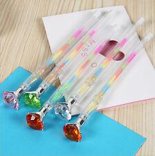 Wholesale 4pcs/lot Cute Colored Crystal Diamond Gel Pens Multi Color Pen Set