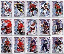 1996-97 TOPPS PICKS ICE D INSERT CARDS - PICK SINGLES - FINISH SET Rare Mint BV