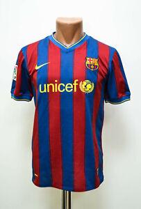 BARCELONA SPAIN 2009/2010 HOME FOOTBALL SHIRT JERSEY NIKE SIZE YXL BOYS