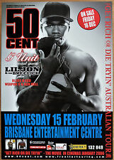 50 CENT RARE 2006 AUSTRALIA A2 TOUR POSTER BRISBANE BLISS ESO G UNIT LIL JON