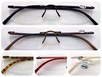 L9-2 Super Lightweight Rimless Reading Glasses & Memory Plastic & Super Fashion