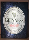 """Guinness Extra Stout Lighted Beer Sign Display 18.5"""" x 13.5"""" x 3.4"""""""