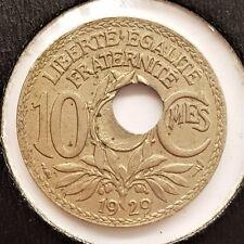 10 Centimes Lindauer 1929 Fautée, Trou Décentré