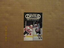 NHL New Jersey Devils Vintage Circa 1986-87 Logo Hockey Pocket Schedule
