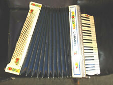 Rare Vintage 1930's Hohner Carmen Accordion Comes with Case & Leather Straps