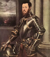 Art Oil painting Jacopo Robusti Tintoretto - Portrait of a man in armour canvas