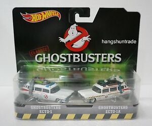 Mattel Hotwheels Classic Ghostbusters ECTO-1 & ECTO-1A Vehicle Pack