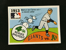 1913 WORLD SERIES A'S VS GIANTS FLEER 1968 VINTAGE BASEBALL CARD
