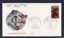 enveloppe 1er jour    la communication  Paris     1976