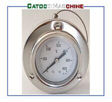 TERMOMETRO PIROMETRO INOX 600°C FORNO LEGNA BARBECUE