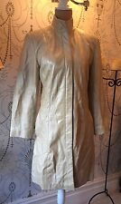 TEODEM London Soft Pearl Cream Leather Jacket Size XS Special Edition