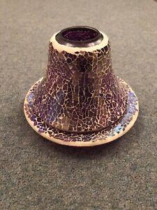Yankee Candle Glass Shade And Base Set
