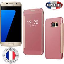 Coque Housse Rose Effet Miroir Transparent pour Samsung Galaxy S7 G930