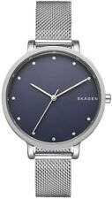 Skagen Stainless Mesh Bracelet Blue Faced Women's Watch 34mm SKW2582 BRAND NEW!