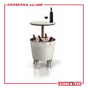 Keter Cool Bar Portaghiaccio Bianco 49.5x84.5x49.5 cm Resina Tavolino Termico