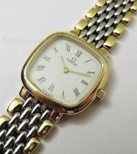 Lavorando Vintage Donna Orologio Omega DeVille orologio da polso al quarzo