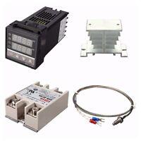 Controlador Digital de Temperatura PID REX-C100 de 220 V + 40 a MáX. SSR +  N4V8