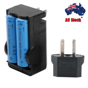 2Pcs Battery Rechargeable 3.7V Li-ion Batteries for Flashlight Headlamp Torch