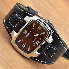 Armbanduhr Lederband Uhr Rötlich Männeruhr Herrenuhr Watch Analoguhr