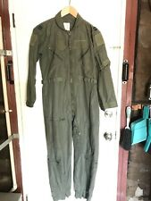 USAF USN Nomex CWU-27/P Flight Suit Flyers Coveralls Sage Green 40S