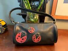 Vintage Tommy Hilfiger Leather LadyBug Handbag Purse RARE Out Of Production Wow