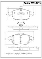 Disc Brake Pad Set-FWD, Turbo Front Dash 4 Brake MD972