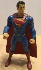Superman Action Figure DC Comics With Cape 7 Inches Blue Red