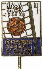 1934 FIFA Soccer World Cup OFFICIAL PIN Football Calcio ITALY~ VERY RARE