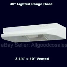 """Over Stove Range Hood 30"""" Exhaust Fan Under Cabinet 3-1/4"""" x 10"""" Vented White"""