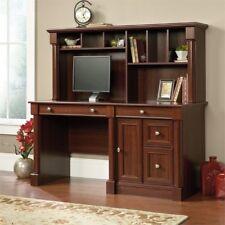 Sauder Palladia Computer Desk with Hutch in Cherry