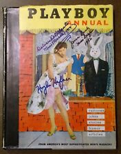 Rare 1956 Playboy Annual with Dust Jacket & Signed By HH+Bunnies-NonProfit