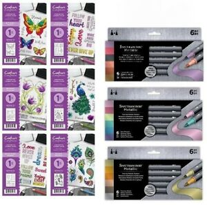 Spectrum Noir METALLIC MARKER PENS 6 Packs / A6 Stamps By Crafters Companion