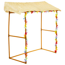 Hawaiian Luau Tiki Hut Bar Frame Prop Summer Beach Garden Party Kit Decoration