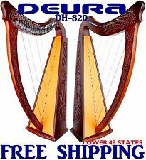 "Celtic Irish LEVERS Harp 22 Strings Lap FOLK DH-820 37"" DEURA DH820"