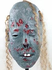 Decomposing Corpse Monster Costume Mask Undead Zombie Lurker w/ Hair