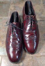 Dexter mens Sz 10 M burgundy leather oxford wingtip full brogue shoes