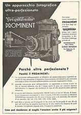 W9816 Voigtlander PROMINENT ultra perfezionato - Pubblicità del 1934 - Old ad
